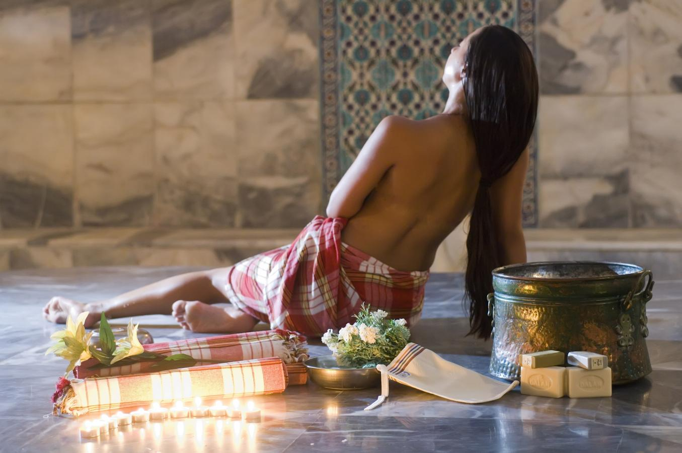 Refreshing and Relaxing massage at the traditional Turkish bath ...