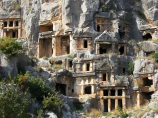 Lycian Tombs of Myra and Kekova Sunken City tour from Belek