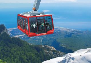 Olympos Cable Car Ride to Tahtali Olympos Mountains in Antalya